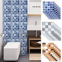 6pcs Self-adhesive Waterproof Mosaic Sticker Decals Tile Wall Bathroom Decor