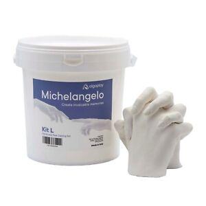 Michelangelo KIT L per calco mani 3D in gesso per 2 adulti o 3 bambini