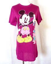 vtg 80s soft thin Magenta Mickey Mouse Disney Sleep Pajama T-Shirt youth L 12-14