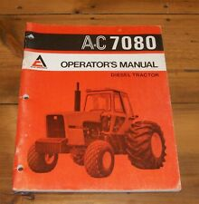 Allis Chalmers 7080 Diesel Tractor Operators Manual