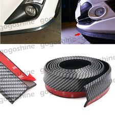 "Carbon Fiber Car Bumper Lip Splitter Protect Body Spoiler Valance Chin 100"" Set"