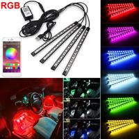 4X RGB 48LED Strip Atmosphere Light Car Interior USB Phone APP Control Colors