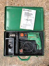 Hitachi DV20V2 240v heavy duty hammer drill in metal case