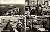 Echtfoto-AK Schiffsfoto 1950/60 Fahrgastschiff WESTMARK Duisburg-Ruhrort s/w AK