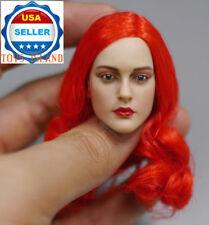 1/6 American Female Head Sculpt Red Hair For SUNTAN Phicen Kumik Figure ❶USA❶