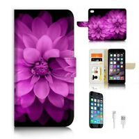 ( For iPhone 7 Plus ) Wallet Case Cover P9829 Beautiful Flower