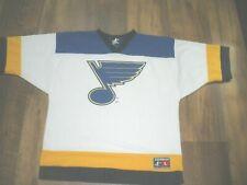vtg St Louis Blues NHL Hockey Jersey Yellow White Blue LOGO ATHIETIC large
