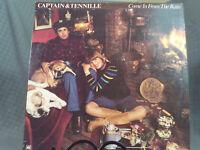 "Captain & Tennille Come In From The Rain 12"" LP Vinyl Record 1977 A&M 33 RPM"