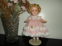 Antique Original 1930's Ideal Toy SHIRLEY TEMPLE Doll RARE OUTFIT 13 inch