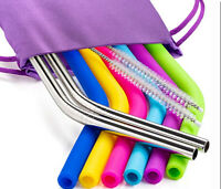 6 Silicone Straws ,3 Brushes ,2 Metal Straws & Storage Pouch for 30oz Tumbler