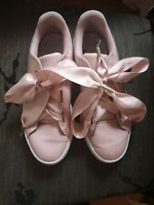 pink puma  runners/sneakers with lace ribbons size UK 6 with original straps