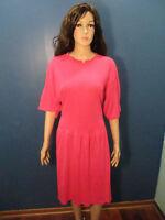 XL pink soft retro dress - unbranded