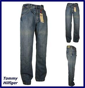 tommy hilfiger Jeans da uomo larghi a zampa gamba larga hip hop rap svasato w30