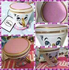 Primark Disney Beauty And The Beast Chip Coin Cup Purse Zip Wallet Trinket Bag