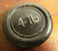 Vintage c1959 Cast Iron 4lb Round Weight - Fab Doorstop or Paperweight!