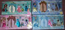 """Lot of 4 Disney 6"""" MINI WARDROBE SETS W/ACCESSORIES"""