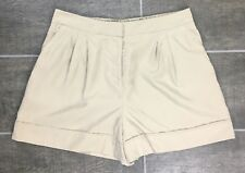 NWT Vince Camuto Short Shorts Women's Size 2 Pleated Elastic Waist Beige J1338