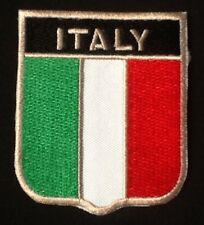ITALY ITALIA ITALIAN NATIONAL COUNTRY FLAG BADGE IRON SEW ON PATCH CREST