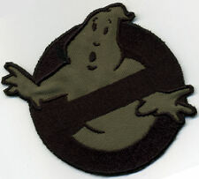 OD [olive drab]  & Black  Ghostbusters No Ghost Iron on  Patch