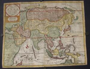 ASIAN CONTINENT 1740 ISAAK TIRION UNUSUAL ANTIQUE ORIGINAL COPPER ENGRAVED MAP