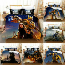 Transformers Bumblebee Duvet Cover Pillowcases Comforter Cover 3PCS Bedding Set