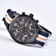 43mm Parnis Chronograph Quartz Mens Watch Sapphire Crystal Water Resistant 10ATM