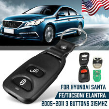 For Hyundai Elantra Santa Fe Tucson Remote Key Keyless Fob 2 Button + 1