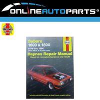 Haynes Car Repair Manual Book for Subaru 79-94 1600, 1800, DL, GL, Leone, Brumby