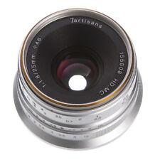 7artisans 25mm F/1.8 Manual Focus MF Lens For Sony E-mount A6500 NEX-7 6 Silver