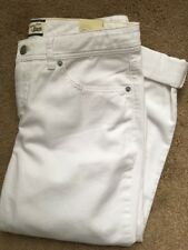 Women's Bass White Heritage Denim Jeans Size 8 Capri New With Tags $66