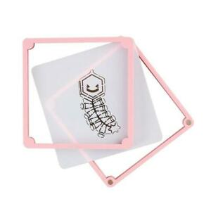 2 Pcs Square Cake Stencil Fixing Frames Non-toxic Printed Cookies Mould DIY Tool