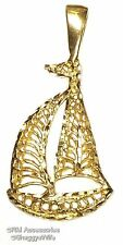 Sailboat Charm / Pendant EP Gold Plated with a Lifetime Guarantee