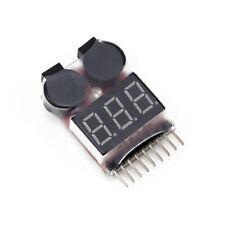 1-8S Lipo Battery Voltage Tester / Low Voltage Buzzer Alarm (4 pcs)
