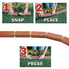 50 ft. Garden Landscape Lawn Edging Realistic Plastic Brick Border Easy Edge Kit