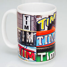 Personalized Coffee Mug Featuring Name in a Photo of Actual Signs (if available)
