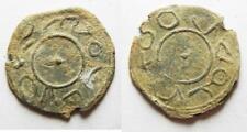 ZURQIEH -aa8603- BYZANTINE. Fifth century AD. Lead amulet (22mm, 2.03g).