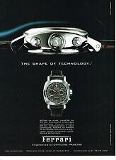 PUBLICITE ADVERTISING 114  2008  FERRARI  montre chrono PANRAI  OP XII