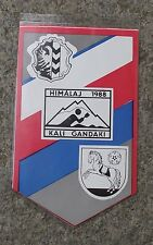 1988 Czech Himalaya Expedition Kali Gandaki Nepal Mountain River Pennant Flag