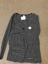 Bub 2 B Striped Long Sleeve Nursing Top Sz 12 Post (e20 F17)