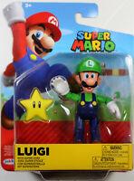 World of Nintendo ~ LUIGI w/STAR (WAVE 18) ACTION FIGURE ~ Super Mario Bros