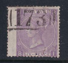 Great Britain SG 106 Scott 50a 1867 6d Hyphen Spray 173 Chatham Postmark CV £160