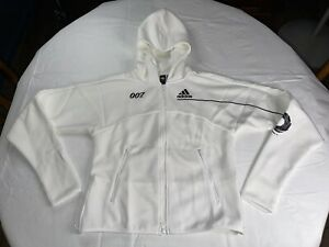 NWT Women's Adidas ZNE Track Jacket James Bond 007 Size Small White GN6814