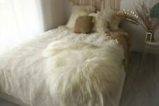 Genuine Icelandic White sheepskin rug