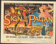 "Sign of the Pagan Original 11 x 14"" Lobby Card 1954  Rita Gam"