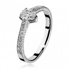Witgouden ring briljant peervormige diamant