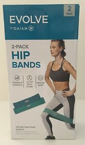Evolve By Gaiam 2 Pack Hip Bands 2 Levels of Resistance Exercise Fitness