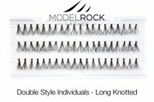 MODELROCK LASHES Double Style Individual False Eyelashes LONG Knotted eye lash
