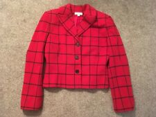 Womens Ann Taylor Wool/Nylon Blend Red Blazer/Jacket, Size 8