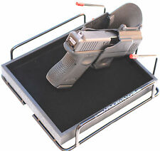 Armory Racks® 4 Gun - Handgun Rack with Tray, Liner & Neoprene Barrel Protection