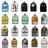 Lion Dog Wolf Canvas Backpack School Shoulder Bag Unisex Travel Rucksack Large
